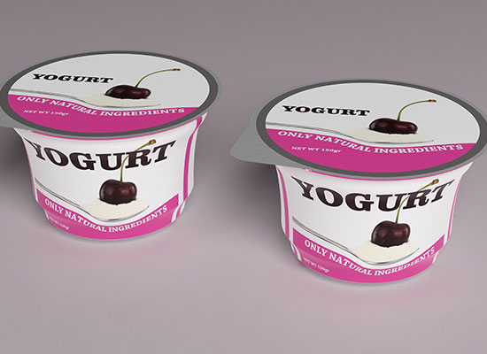 Cherry yogurt for a healthy snack