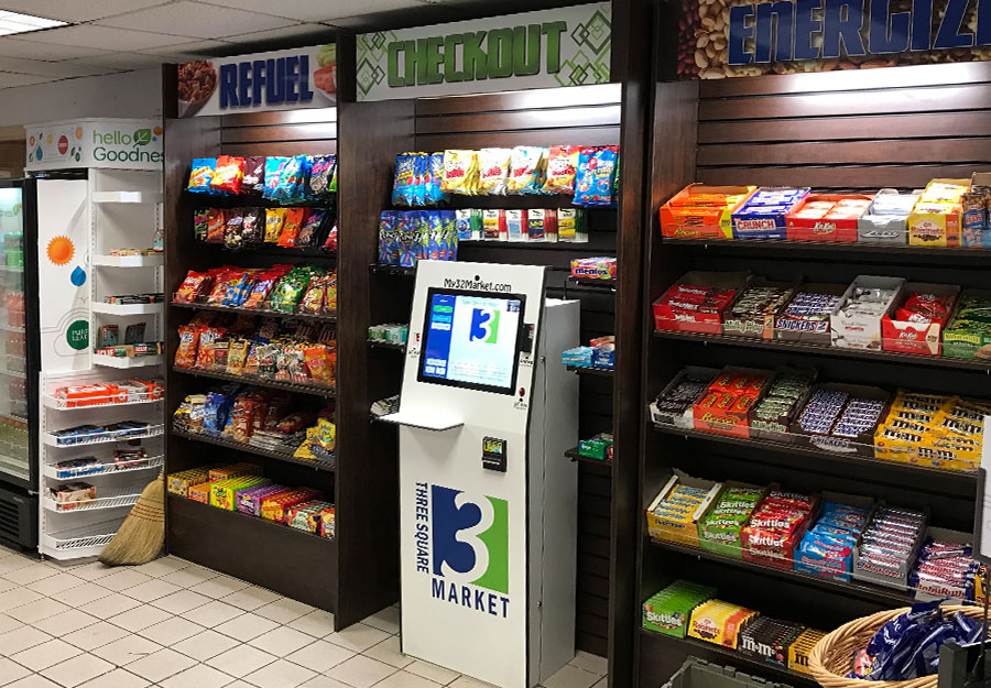 Self-serve kiosks making micro-market purchasing quick and easy